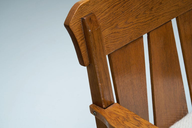 """Oak """"Jugend"""" Rocking Chair, Europe, circa 1920s For Sale 11"""