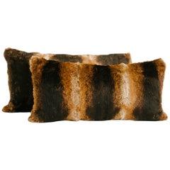 Oak Lapin Fur Lumbar Pillow
