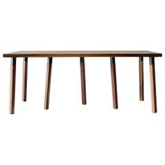 Oak Large Pier Dining Table by Hollis & Morris
