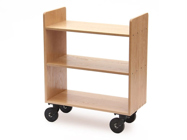 American Oak Library Cart by Wyeth For Sale