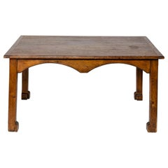 Oak Library Table, France, 20th Century