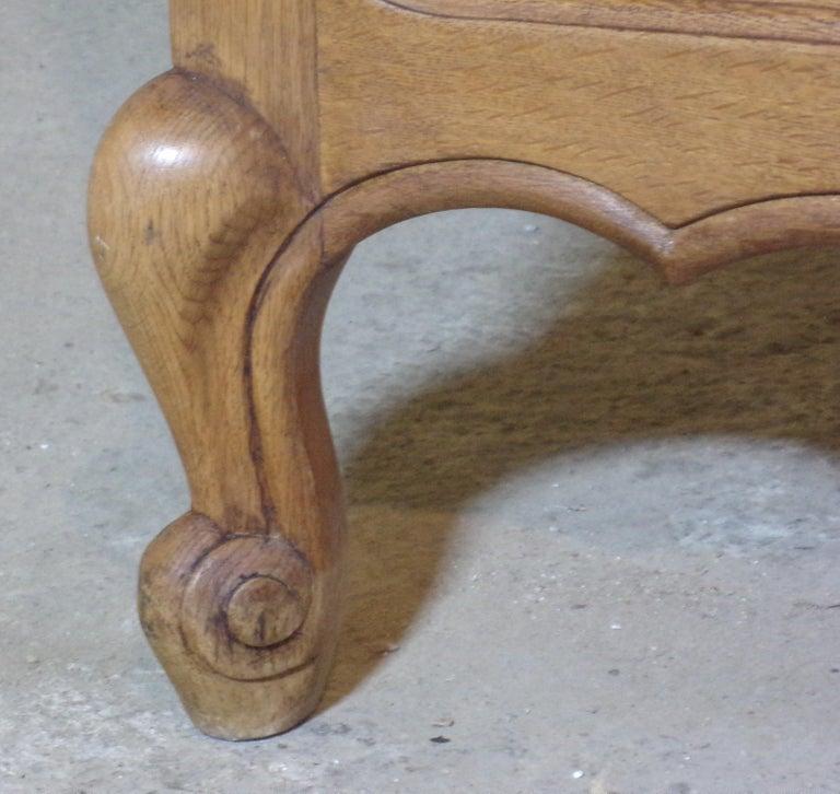 Oak Louis XV Style Double Bed, C1930 For Sale 1
