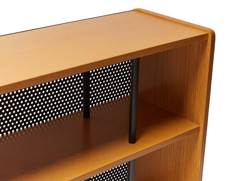 Powder-Coated Oak Maker's Console by Lawson-Fenning For Sale