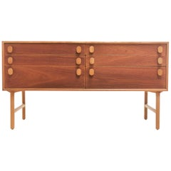Oak Midcentury Sideboard Chest of Drawers by Meredew