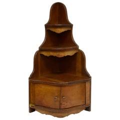 Oak Miniature Serpentine Encoigneur or Corner Cupboard
