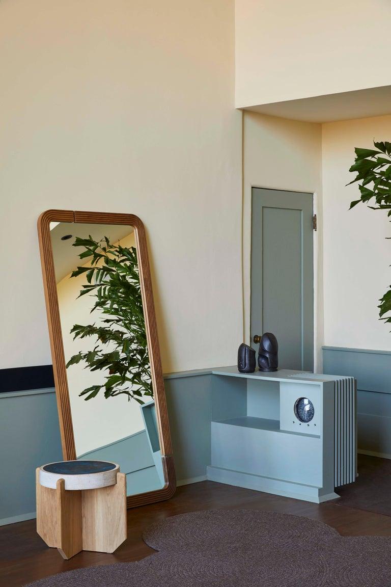 Ebonized Oak Ojai Floor Mirror by Lawson-Fenning For Sale