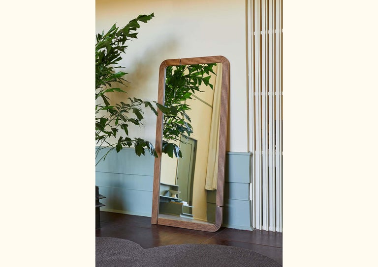 Oak Ojai Floor Mirror by Lawson-Fenning In New Condition For Sale In Los Angeles, CA