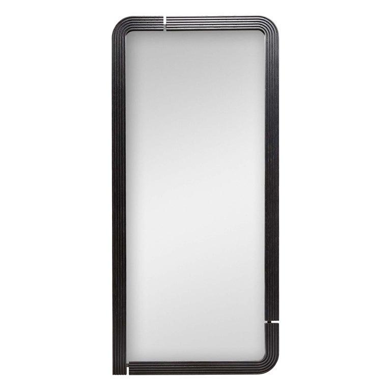 Oak Ojai Floor Mirror by Lawson-Fenning For Sale
