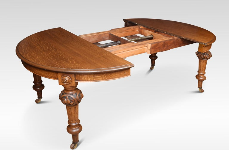 Oak Oval Extending Dining Table For Sale 1