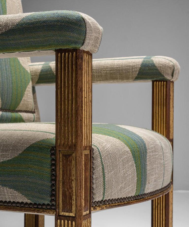 Oak & Parcel Gilt Armchair, England circa 1840 For Sale 1