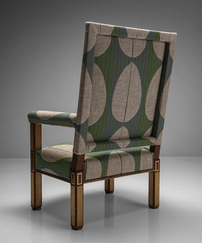 Oak & Parcel Gilt Armchair, England circa 1840 For Sale 2