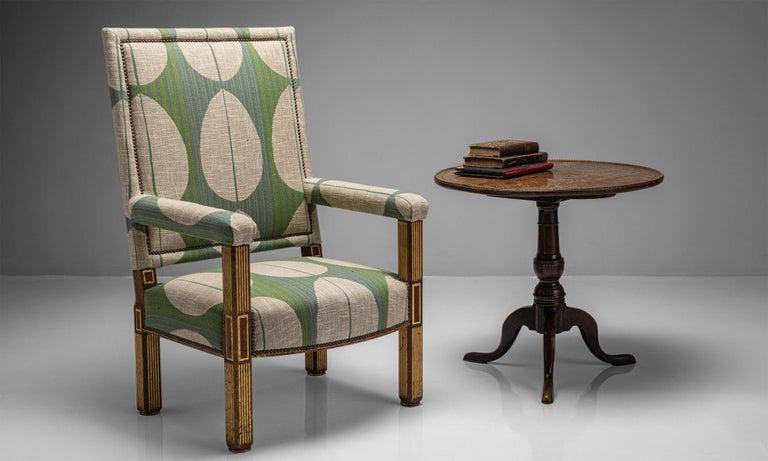 Oak & Parcel Gilt Armchair, England circa 1840 For Sale 3