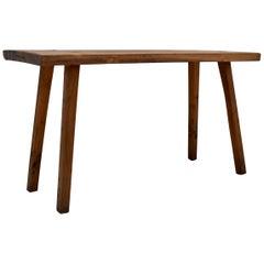 Oak Pig Bench Side Table