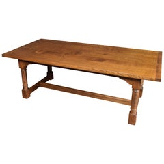 Oak Plank Top Refectory Table