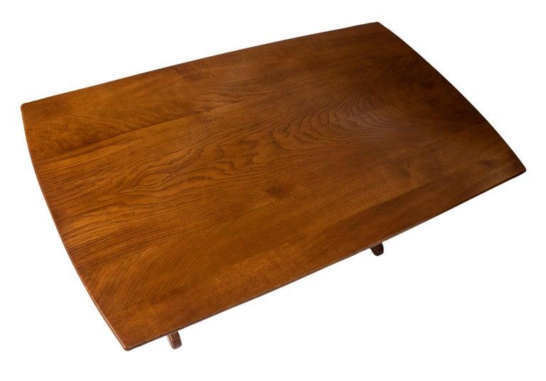 """Oak Refectory Table By Edward Barnsley On A """"Wishbone"""