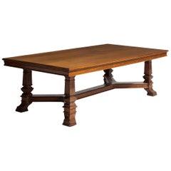Oak Refectory Table, England, circa 1890