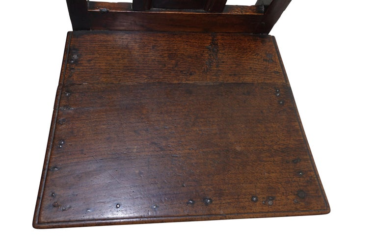 18th Century Oak Renaissance Side Chair or Desk Chair, English, circa 1730 For Sale