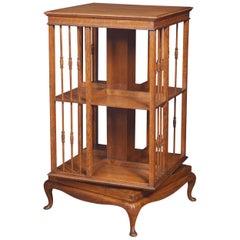Oak Revolving Bookcase