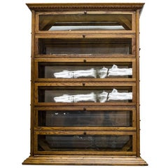 Oak Ribbon Display Cabinet