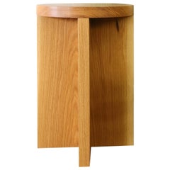 Oak Round Top Foundation Stool