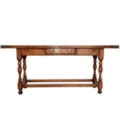 Oak Serving Table Unique Design Opening into a Dining Table