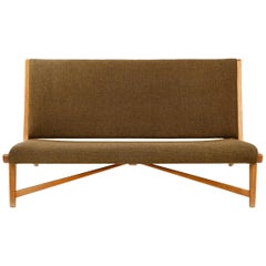 Oak Settee by Hans J. Wegner for Johannes Hansen