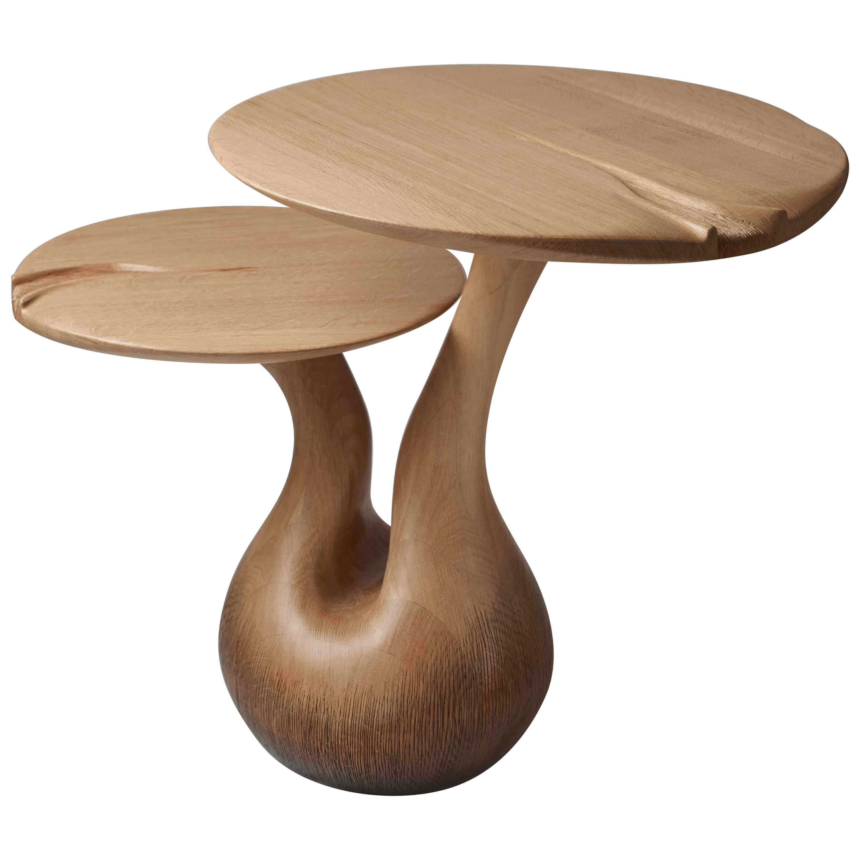 "Oak Side Table from ""Tables Enchantées"" by Designer Hoon Moreau"