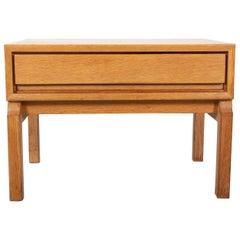 Oak Side Table Scandinavian, 1960s