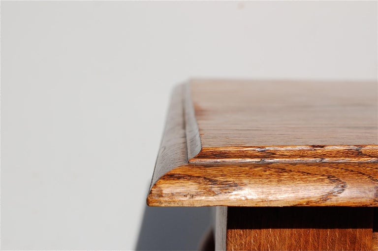 Oak Side Table with Barley Twist Legs, Early 20th Century For Sale 1