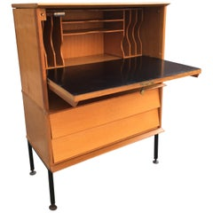 Oak Small Secretaire by Oscar, circa 1960