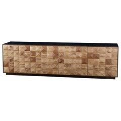 Oak Squares Tv Sideboard