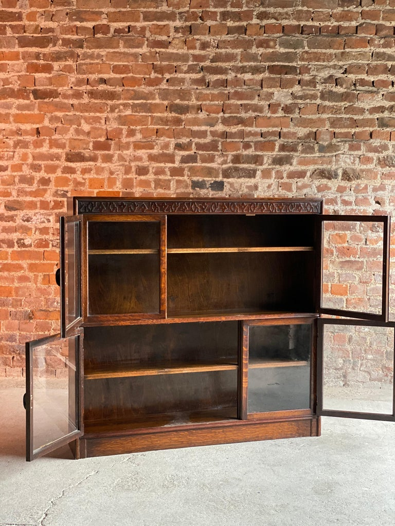 Aesthetic Movement Oak Stacking Bookcase by Gunn, USA, 1920