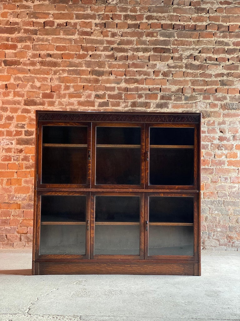 Oak Stacking Bookcase by Gunn, USA, 1920 In Good Condition In Longdon, Tewkesbury