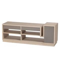 Oak Stairs TV Sideboard 100% Solid French Oak