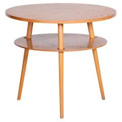 Oak Table, Czech Midcentury, Preserved Original Condition, 1950s