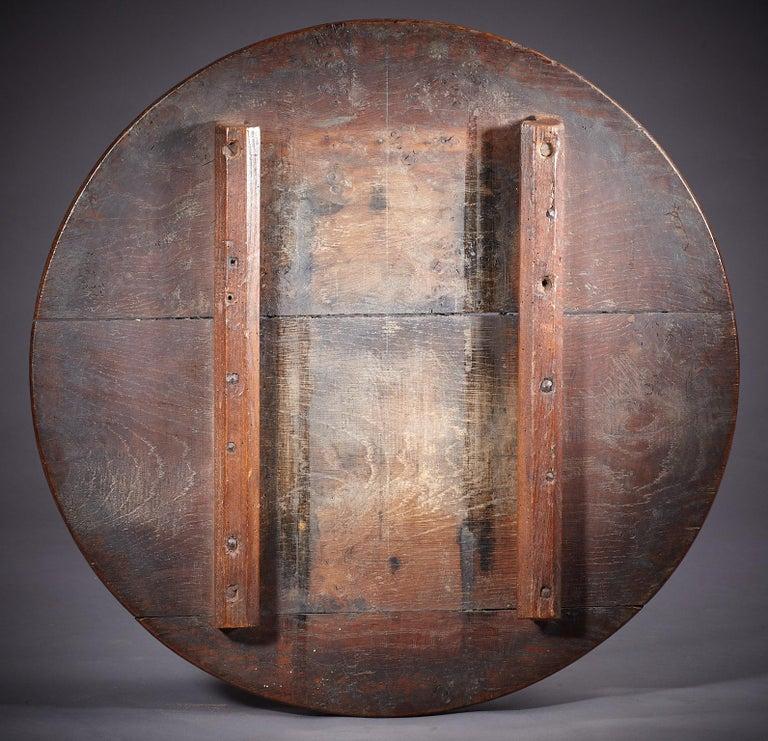 Oak Table Stool, Mid-17th Century English, circa 1640-1650 For Sale 1