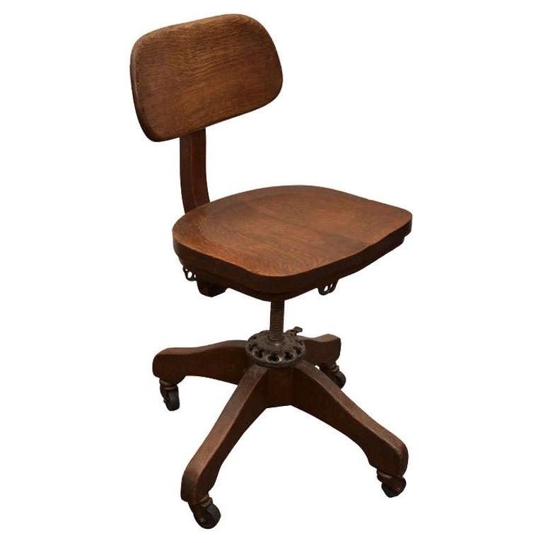 Oak Task Chair For Sale