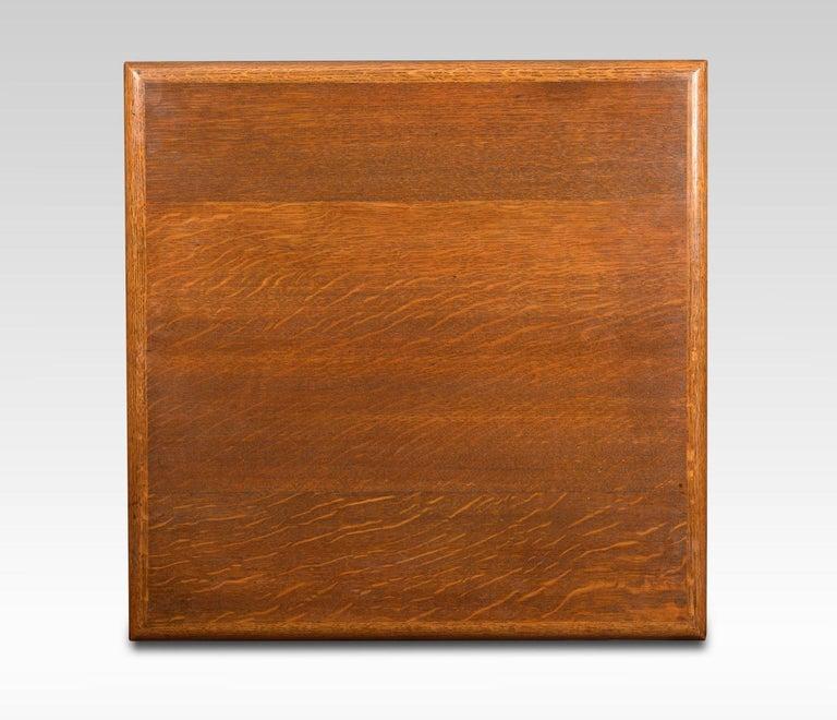 Early 20th Century Oak Three-Tier Revolving Bookcase