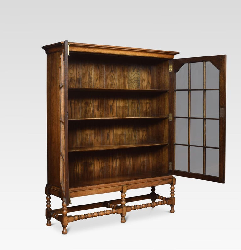 20th Century Oak Two-Door Bookcase For Sale