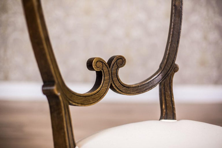 Oak, Upholstered Chairs, circa First Quarter of the 20th Century For Sale 5