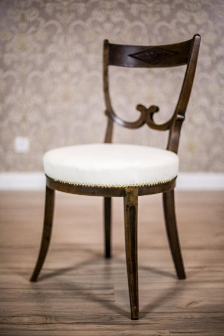 European Oak, Upholstered Chairs, circa First Quarter of the 20th Century For Sale