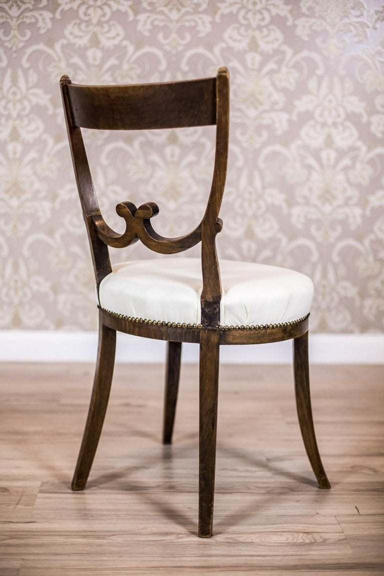 Oak, Upholstered Chairs, circa First Quarter of the 20th Century In Good Condition For Sale In Opole, PL