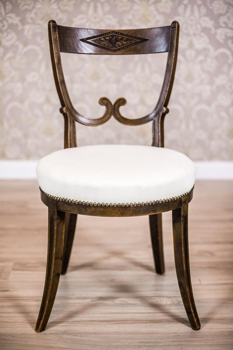 Upholstery Oak, Upholstered Chairs, circa First Quarter of the 20th Century For Sale