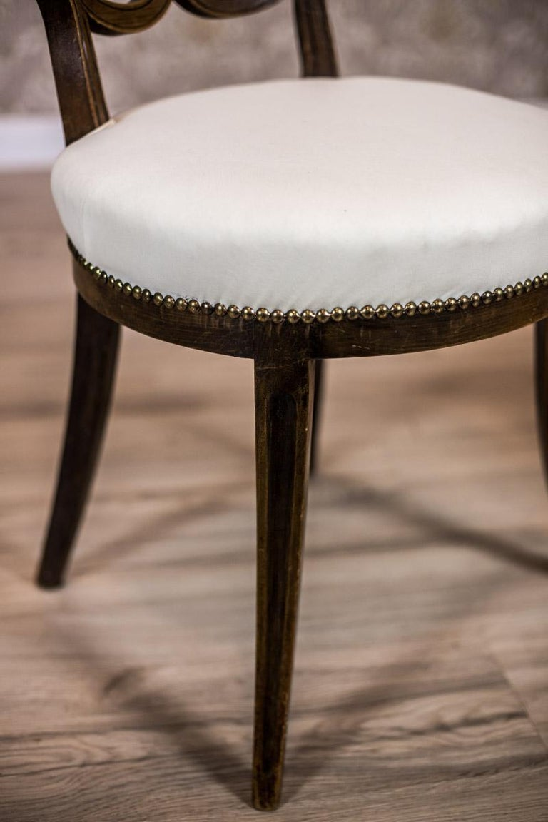 Oak, Upholstered Chairs, circa First Quarter of the 20th Century For Sale 3