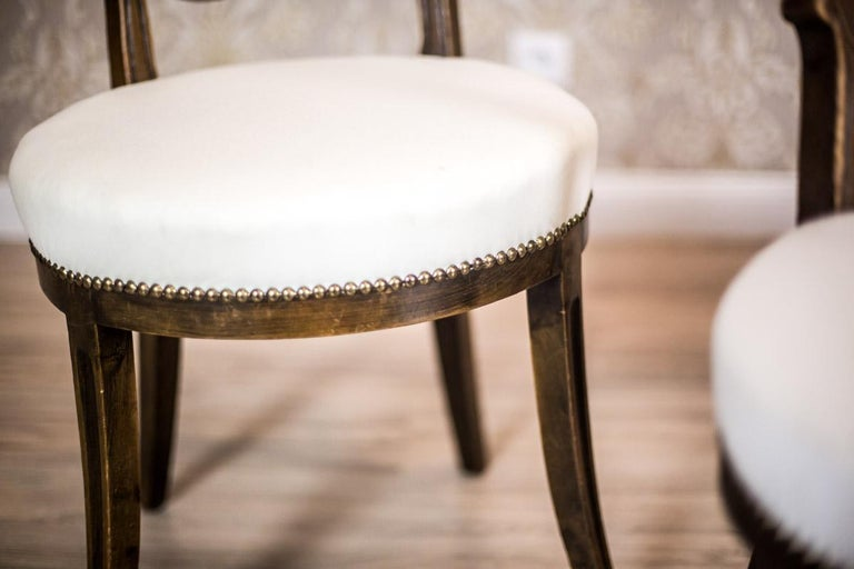 Oak, Upholstered Chairs, circa First Quarter of the 20th Century For Sale 4