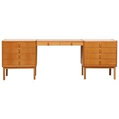Oak Vanity or Desk by Bertil Fridhagen for Bodafors