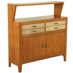 Oak Veneered Cabinet Vintage Manufactured in Italy, 1950s