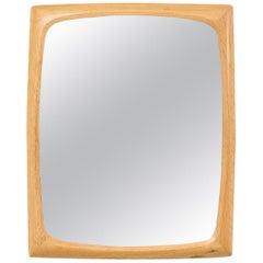 Oak Wall Mirror by Aktuell Form AB Sweden, 1960s