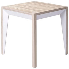 Oak White MiMi Side Table by Miduny, Made in Italy