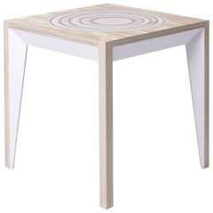 Oak White MiMi Stool by Miduny, Made in Italy